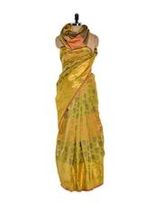 Mehendi Green Cotton Silk Saree - Bunkar