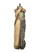 Regal Beige Cotton Silk Saree - Bunkar
