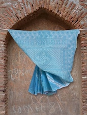Shades Of Blue Chikankari Saree - Ada
