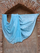 Blue Chikankari Saree - Ada - 914638