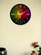 Striking  Black Wall Clock With Lighting Rays - Regent