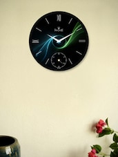 Fantastic  Black Wall Clock With Abstract Pattern - Regent