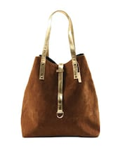 Chic Brown Tote Bag - Miss Chase
