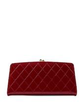 Cherry Red Stitch Work Wallet - Miss Chase
