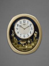 Gold Framed Motion Tableau Wall Clock - Rhythm