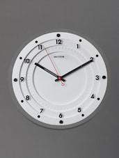 White Modern Art Deco Wall Clock - Rhythm