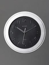 Silver And Black Art Deco Wall Clock - Rhythm