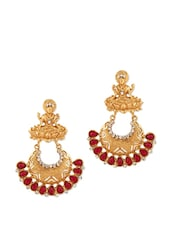 Gold Plated Temple Design Earring - Voylla