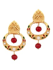 Gold Plated Temple Design Earrings - Voylla