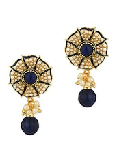 Gold Plated Floral Design Earrings - Voylla