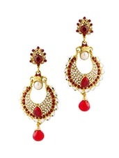 Gold Plated Crescent Drop Earrings - Voylla