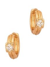 CZ Studded Exclusive Pair Of Hoop Earring - Voylla