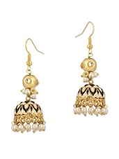 Alluring Jhumki Earrings With Pearls - Voylla