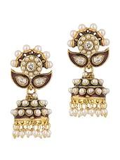 Traditional Pearl Jhumki Earrings - Voylla