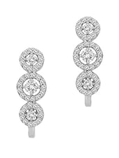 Sterling Silver Huge Pair Of Stud Earrings - Voylla