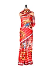 Regal Red Art Silk Saree - Saraswati