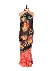 Elegant Printed Red Art Silk Saree - Saraswati