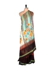 Graceful Printed Art Silk Saree With Matching Blouse Piece - Saraswati