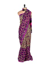 Gorgeous Purple Art Silk Saree With Matching Blouse Piece - Saraswati