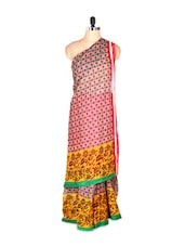Gorgeous Printed Art Silk Saree With Matching Blouse Piece - Saraswati
