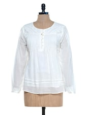 White Full Sleeves Top - Mind The Gap