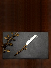Granite Cheese Platter With Knife - The Yellow Door