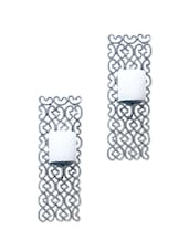 Silver Finish Wall Scone Candle Holder (set Of 2) - The Yellow Door