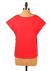 Solid Red Oversized Top - RESTLESS
