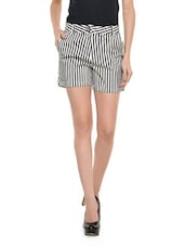 Black And White Striped Shorts - Nineteen