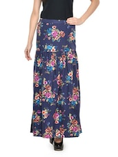 Blue Floral Beauty Maxi Skirt - Nineteen
