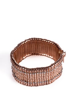 Studded Rose Gold Kada - Tribal Zone