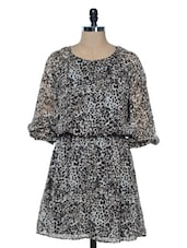 BROWN AND WHITE LEOPARD PRINT DRESS - VAAK