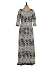 Printed Polyester Maxi Dress - Purys