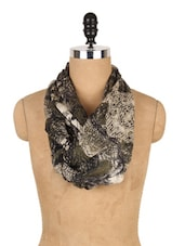Olive Green Multi Print Scarf - J STYLE