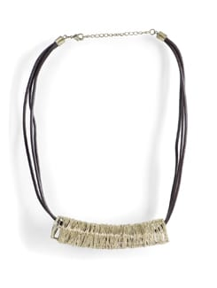 Handcrafted Brass Wire Necklace - Tribal Zone