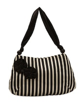 Black And White Striped Tote Bag - Rediscoverfashions