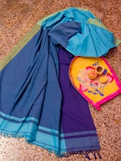 Elegant Blue Handloom Saree - Cotton Koleksi