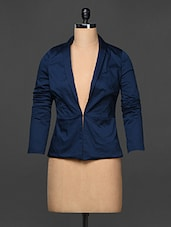 Solid Navy Blue Formal Jacket - Kaaryah