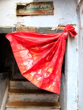 Ravishing Red Art Silk Saree - BANARASI STYLE