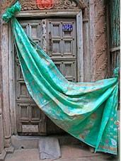 Light Green Jacquard Saree - BANARASI STYLE