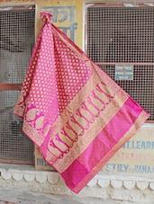 Pink and Gold Paisley Saree