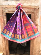 Pink And Purple Art Silk Banarasi Saree - BANARASI STYLE