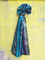 Deep Blue Art Silk Banarasi Saree - BANARASI STYLE