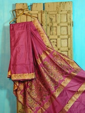 Pink And Gold Benarasi Silk Saree - BANARASI STYLE