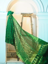 Green Art Silk Benarasi Saree - BANARASI STYLE