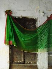 Green And Pink Pure Net Benarasi Saree - BANARASI STYLE