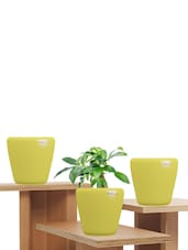 Pack Of 3 Yellow Planters - Yuccabe Italia