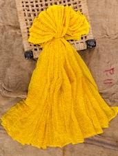 Bright yellow Jaipuri saree
