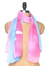 Baby Pink And Sky Blue Stole - Dupatta Bazaar