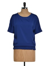 Solid Royal Blue Casual Top - Golden Couture